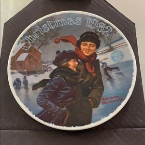 1982 Norman Rockwell Christmas Plate by Knowles